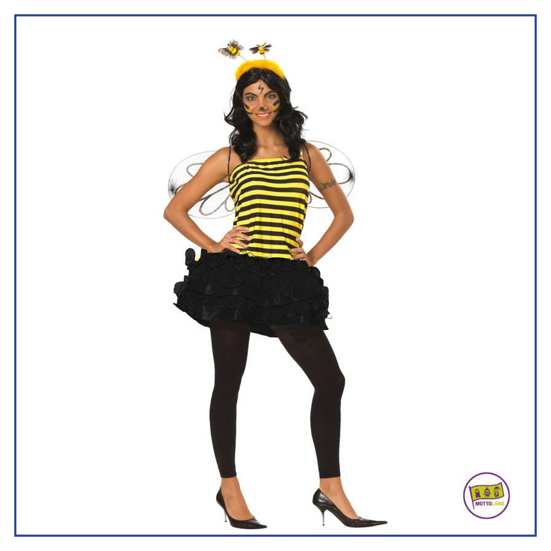 sexy biene kost m mit fl geln karneval fasching party biene maja jb 0021 ebay. Black Bedroom Furniture Sets. Home Design Ideas